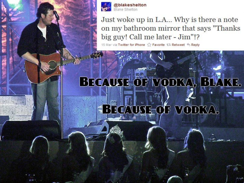 blake shelton vodka