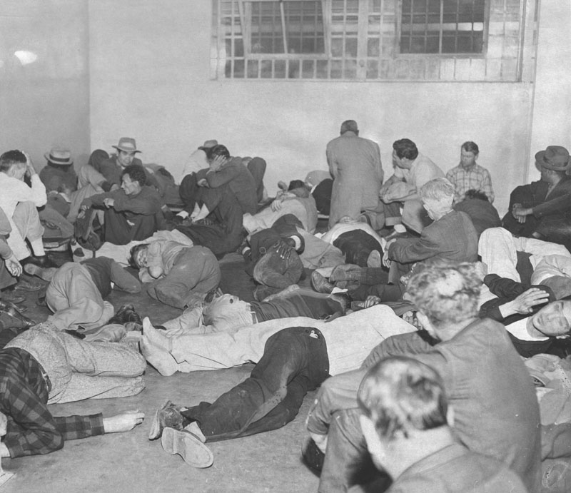 Christmas Morning in Lincoln Heights Jail Drunk Tank, 1952, artist unknown.